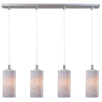 ET2 Carte 4 Light Linear Pendant in Satin Nickel E93154-39