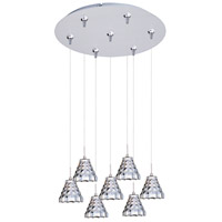ET2 Minx 7 Light Multi-Light Pendant in Satin Nickel E93701-20SN
