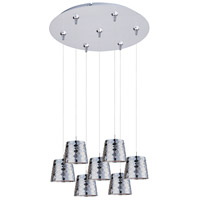 ET2 Minx 7 Light Multi-Light Pendant in Satin Nickel E93702-20SN