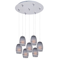 ET2 Minx 7 Light Multi-Light Pendant in Satin Nickel E93704-51SN