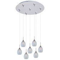 ET2 Minx 7 Light Multi-Light Pendant in Satin Nickel E93705-20SN