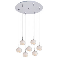 ET2 Minx 7 Light Multi-Light Pendant in Satin Nickel E93706-10SN