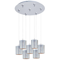 ET2 Minx 7 Light Multi-Light Pendant in Satin Nickel E93707-69SN