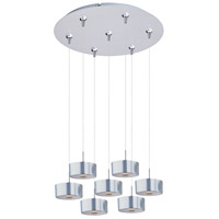 Percussion 7 Light 17 inch Satin Nickel Multi-Light Pendant Ceiling Light