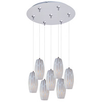 ET2 Minx 7 Light Multi-Light Pendant in Satin Nickel E93711-54SN