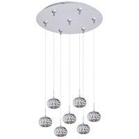 ET2 Minx 7 Light Multi-Light Pendant in Satin Nickel E93712-55SN