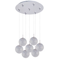 ET2 Minx 7 Light Multi-Light Pendant in Satin Nickel E93717-78SN