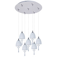 ET2 Chute 7 Light Multi-Light Pendant in Satin Nickel E93726-11SN