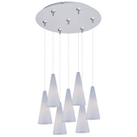 ET2 Minx 7 Light Multi-Light Pendant in Satin Nickel E93728-101SN