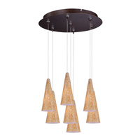 Minx 7 Light 17 inch Bronze Multi-Light Pendant Ceiling Light