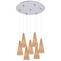 ET2 Minx 7 Light Multi-Light Pendant in Satin Nickel E93730-103SN