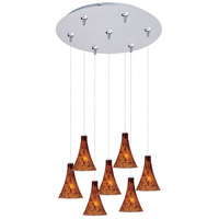 ET2 Minx 7 Light Multi-Light Pendant in Satin Nickel E93731-104SN