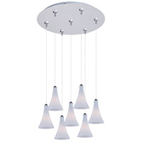 ET2 Minx 7 Light Multi-Light Pendant in Satin Nickel E93732-105SN