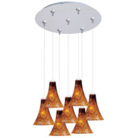 ET2 Minx 7 Light Multi-Light Pendant in Satin Nickel E93733-104SN