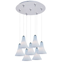 ET2 Minx 7 Light Multi-Light Pendant in Satin Nickel E93734-105SN