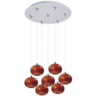 ET2 Minx 7 Light Multi-Light Pendant in Satin Nickel E93735-106SN