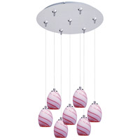 ET2 Minx 7 Light Multi-Light Pendant in Satin Nickel E93736-107SN