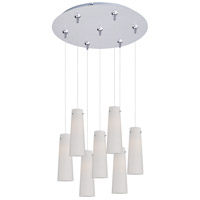 ET2 Minx 7 Light Multi-Light Pendant in Satin Nickel E93739-112SN