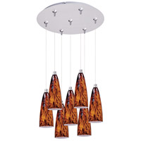 ET2 Minx 7 Light Multi-Light Pendant in Satin Nickel E93743-102SN