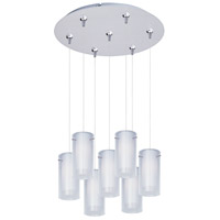 ET2 Frost 7 Light Multi-Light Pendant in Satin Nickel E93744-10SN