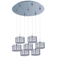 ET2 E93745-10PC Inca 7 Light 17 inch Polished Chrome Multi-Light Pendant Ceiling Light