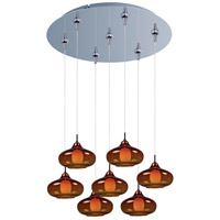 ET2 Minx 7 Light Multi-Light Pendant in Polished Chrome E93748-141PC