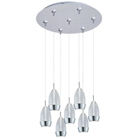 Luxe LED 17 inch Satin Nickel Multi-Light Pendant Ceiling Light