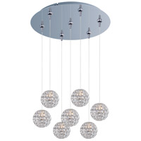 Brilliant 7 Light 17 inch Polished Chrome Multi-Light Pendant Ceiling Light