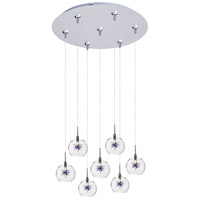 ET2 Starburst 7 Light Multi-Light Pendant in Satin Nickel E93772-21SN