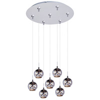 ET2 Starburst 7 Light Multi-Light Pendant in Satin Nickel E93772-81SN
