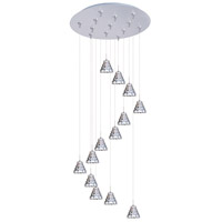 ET2 Minx 13 Light Multi-Light Pendant in Satin Nickel E93801-20SN