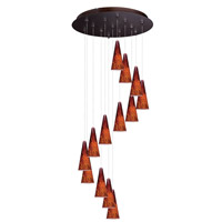 Minx 13 Light 21 inch Bronze Multi-Light Pendant Ceiling Light