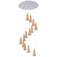 ET2 Minx 13 Light Multi-Light Pendant in Satin Nickel E93830-103SN