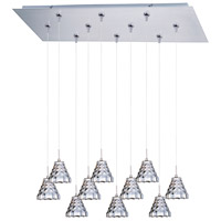 ET2 Minx 10 Light Linear Pendant in Satin Nickel E93901-20SN