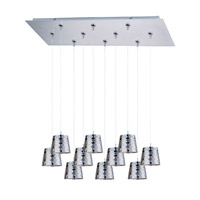 ET2 Minx 10 Light Linear Pendant in Satin Nickel E93902-20SN