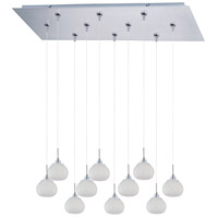 ET2 Minx 10 Light Linear Pendant in Satin Nickel E93903-10SN