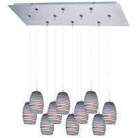 ET2 Minx 10 Light Linear Pendant in Satin Nickel E93904-51SN