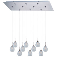 ET2 Minx 10 Light Linear Pendant in Satin Nickel E93905-20SN