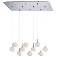 ET2 Minx 10 Light Linear Pendant in Satin Nickel E93906-10SN