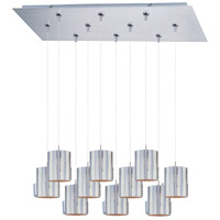 ET2 Minx 10 Light Linear Pendant in Satin Nickel E93907-69SN