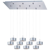Percussion 10 Light 32 inch Satin Nickel Linear Pendant Ceiling Light