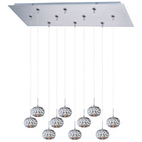 ET2 Minx 10 Light Linear Pendant in Satin Nickel E93912-55SN