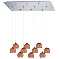 ET2 Minx 10 Light Linear Pendant in Satin Nickel E93915-56SN