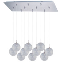ET2 Minx 10 Light Linear Pendant in Satin Nickel E93917-78SN