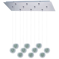 ET2 Clipp 10 Light Linear Pendant in Brushed Aluminum E93920-94AL