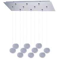 ET2 Clipp 10 Light Linear Pendant in Brushed Aluminum E93920-AL