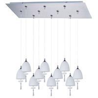 Chute 10 Light 32 inch Satin Nickel Linear Pendant Ceiling Light