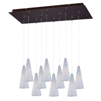 Minx 10 Light 13 inch Bronze Multi-Light Pendant Ceiling Light