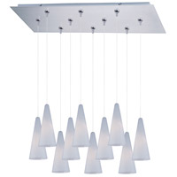 ET2 Minx 10 Light Linear Pendant in Satin Nickel E93928-101SN