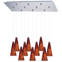 ET2 Minx 10 Light Linear Pendant in Satin Nickel E93929-102SN